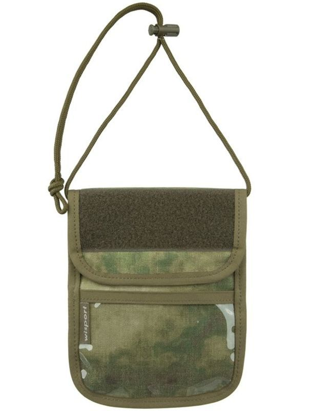 Púzdro na doklady - peňaženka na krk Wisport® Patrol - A-TACS FG ™