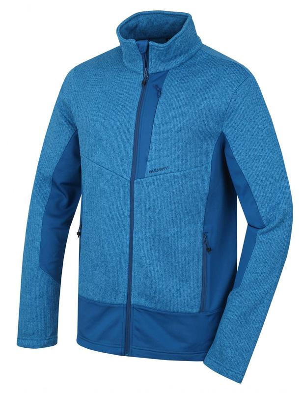 Pánsky fleecový sveter Husky Alan M tm. modrá XL