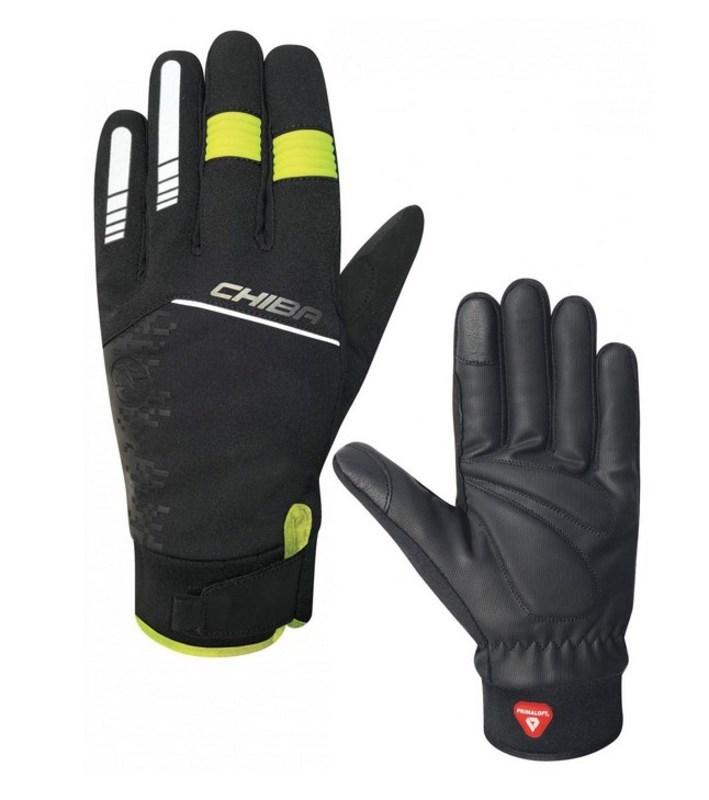 Cyklistické rukavice Chiba RAIN TOUCH II. čierna / žltá 3120019.1003-1 XL
