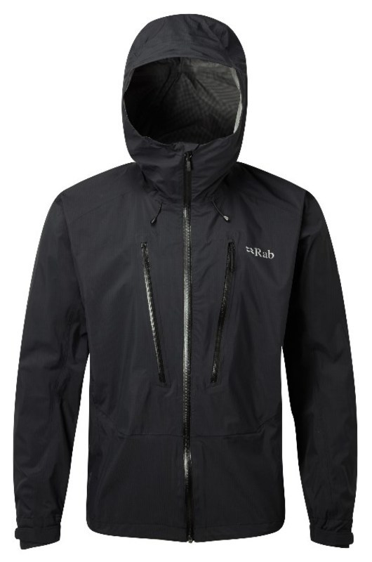 Pánska bunda Rab Downpour Alpine Jacket black M