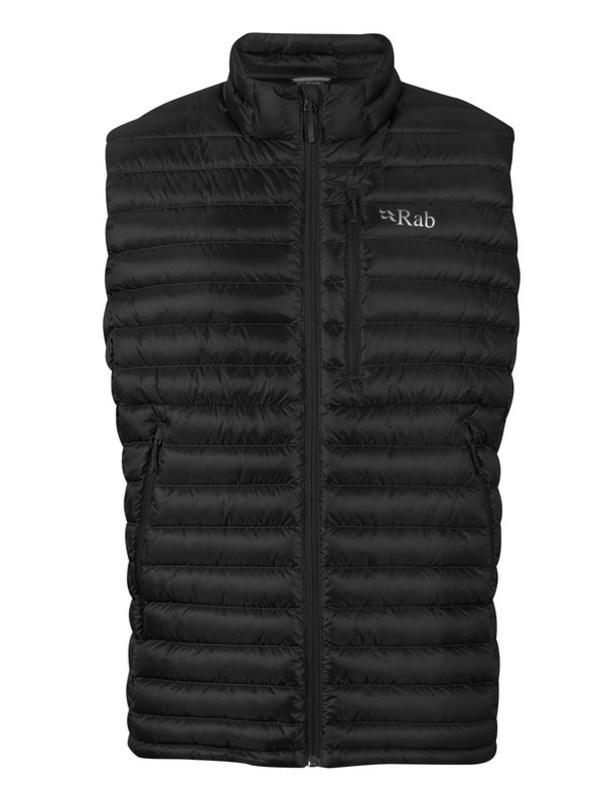 Perová vesta Rab Microlight Vest black XL