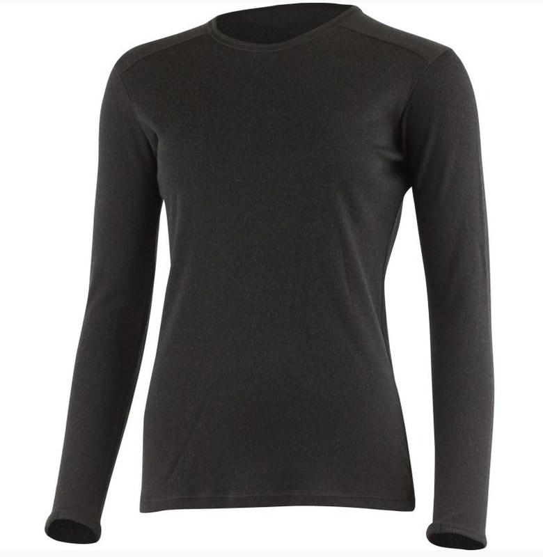 Dámske vlnené triko Lasting BELA 9090 čierne S