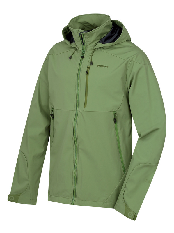 Pánska softshellová bunda Sauri M tm.zelená M