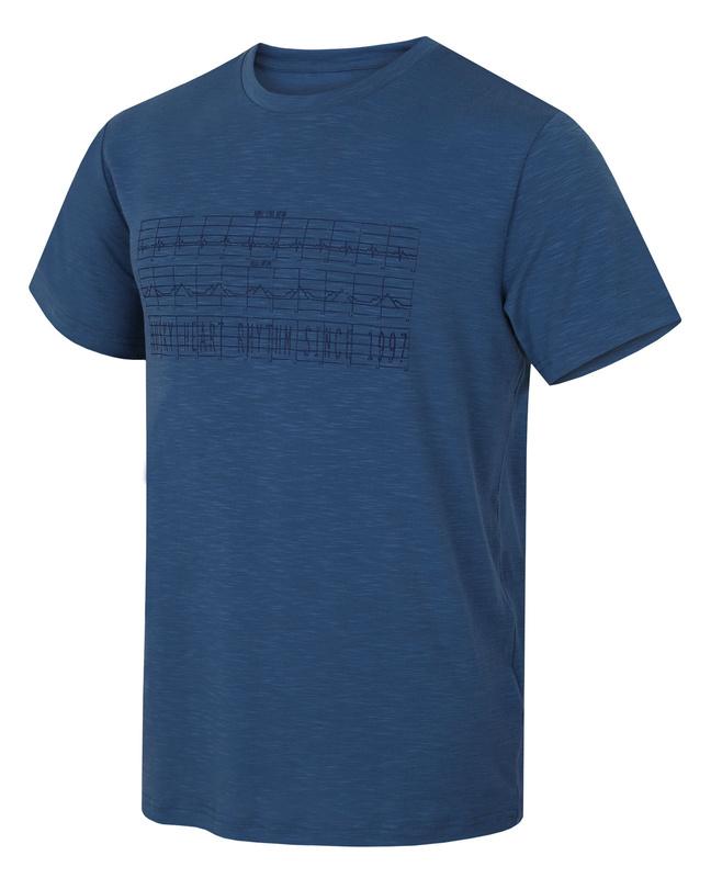 Pánske triko Husky Tingle M tm. modrá XL