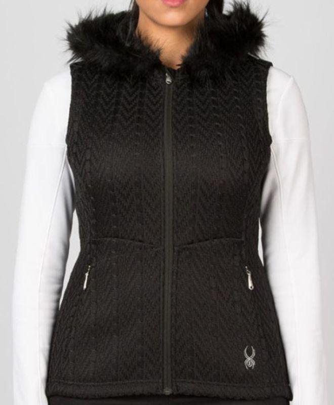 Vesta Spyder Women `s Major Cable Core Sweater Vest 158276-001