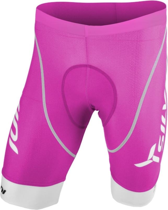 Juniorské cyklistické nohavice s vložkou Silvini Team CP404J fuchsia