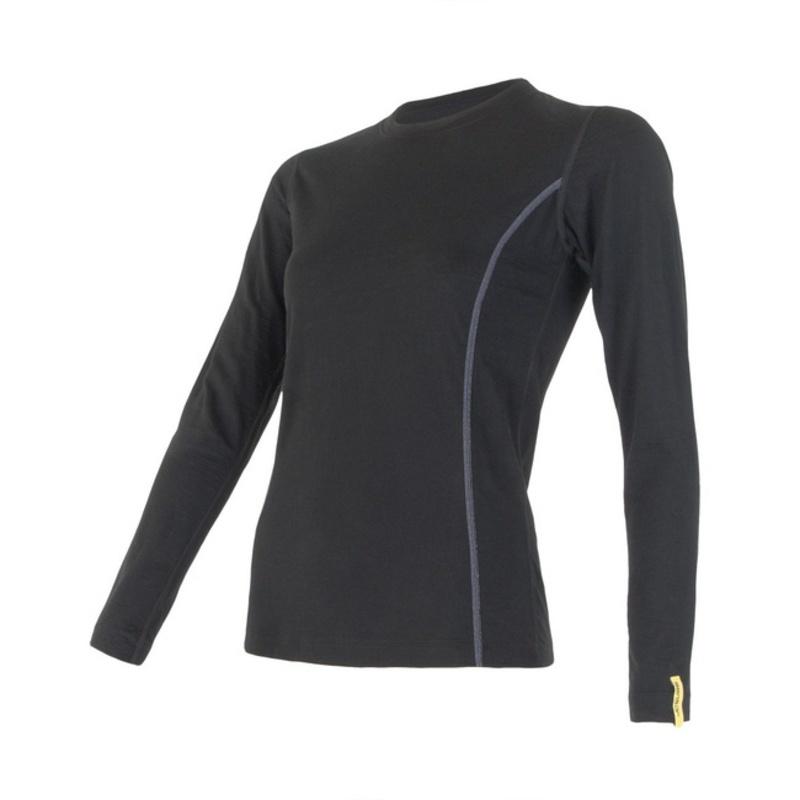 Dámske triko Sensor Merino Wool Active čierne 11109024 S