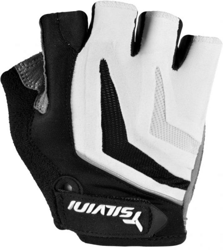 Pánske cyklistické rukavice Silvini Nero UA467M white