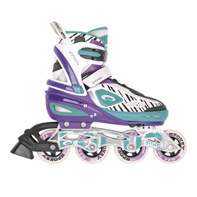Kolieskové korčule Spokey FOCUS svetlé modré