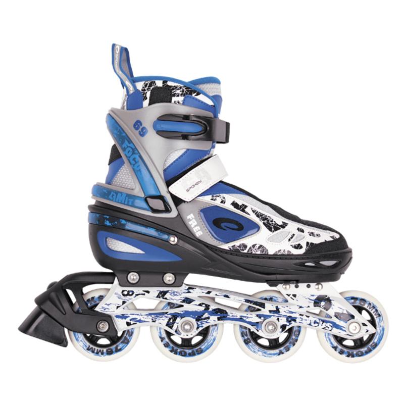 Kolieskové korčule Spokey FOCUS tmavo modré