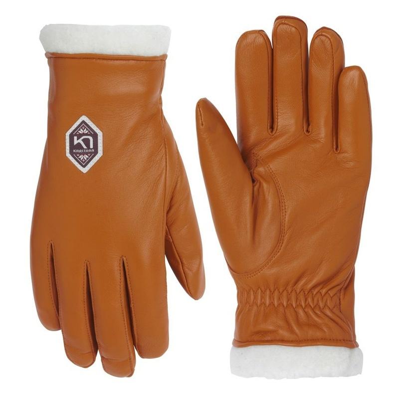 Dámske kožené rukavice Kari Traa Himl Rust 6