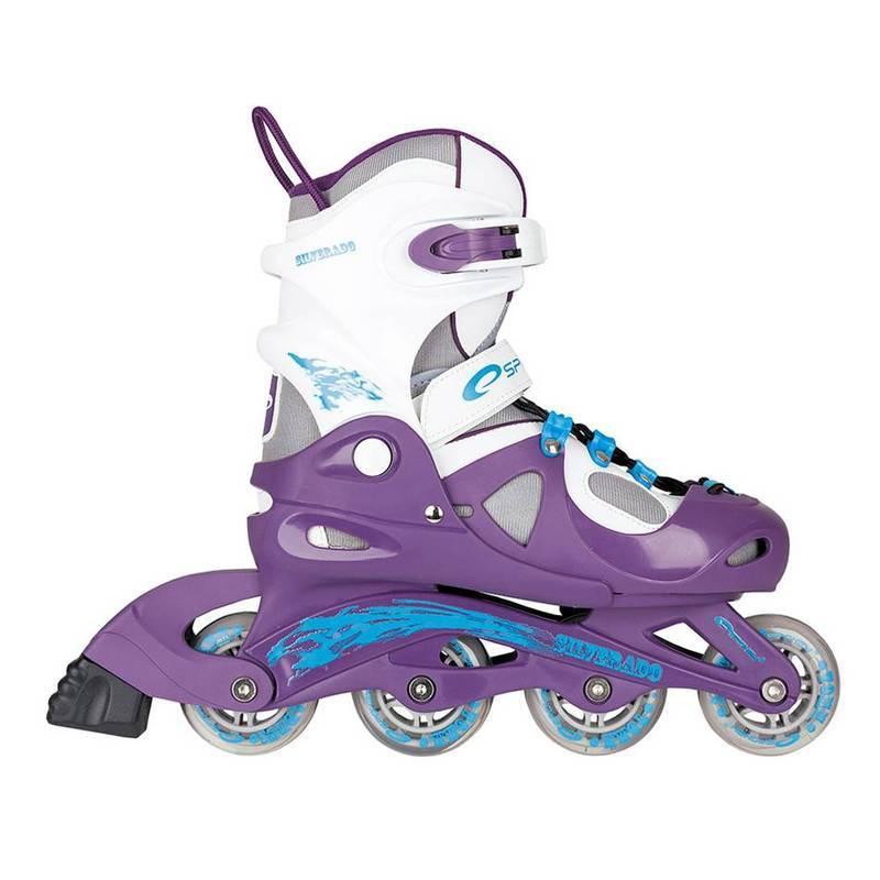 Kolieskové korčule Spokey SILVERADO fialové
