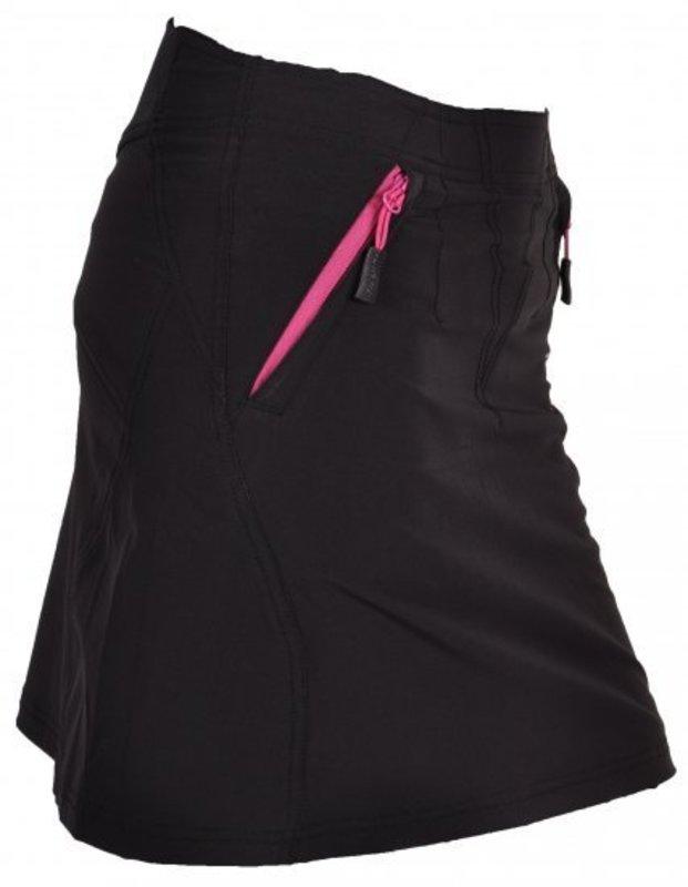 Dámska cyklistická sukňa Silvini Invia WS378 black-purple