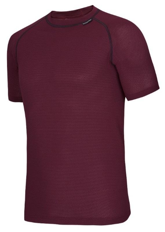 Tričko krátky rukáv Klimatex AMOS (COOLMAX) vínovej