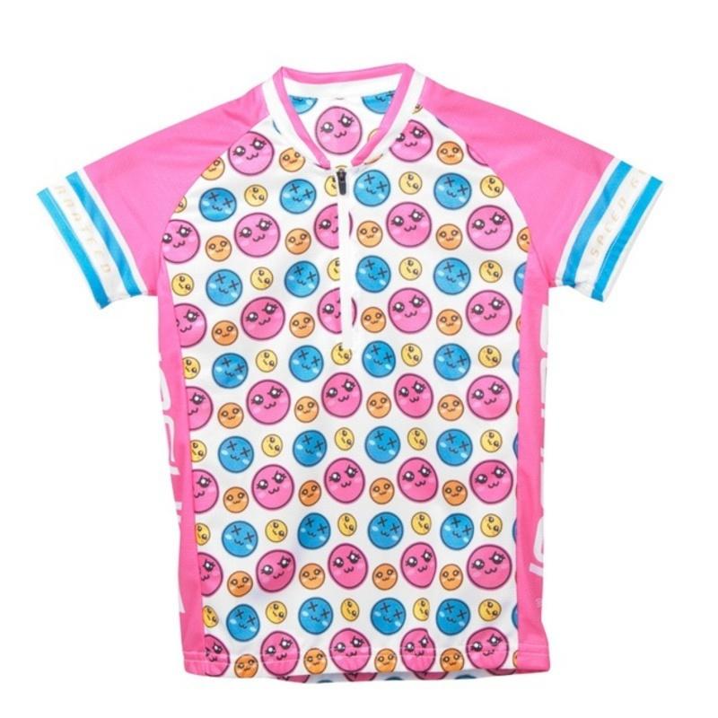 Detský cyklo dres Sensor Smile Evo ružový 12100086