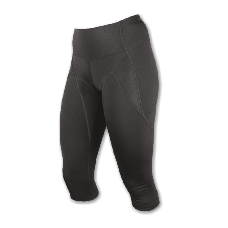 Nohavice Sensor Race bez vložky do pásu 3/4 dámske čierna 12100099