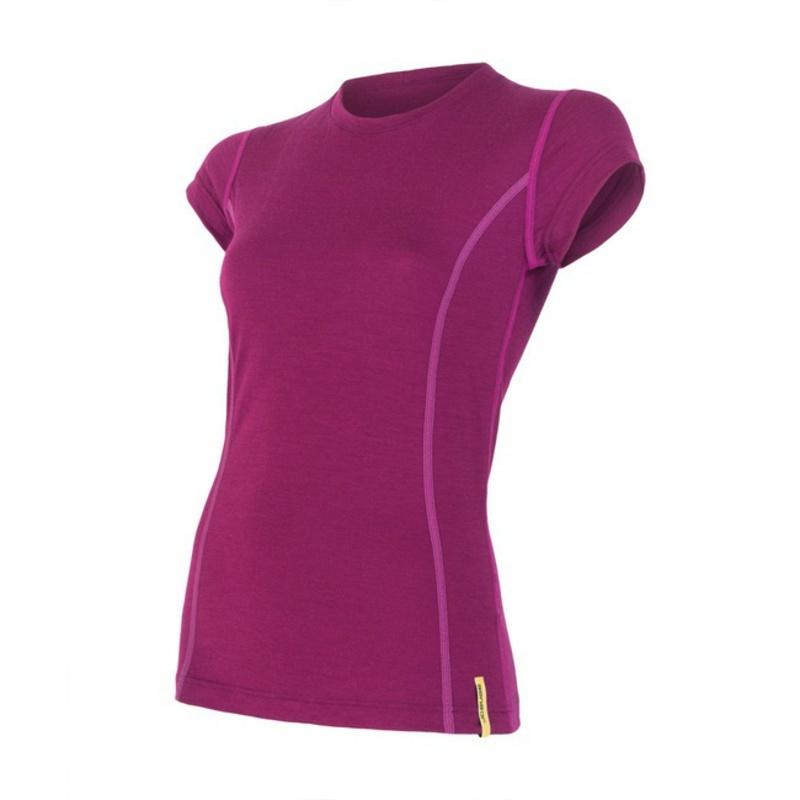 Dámske triko Sensor Merino Wool Active lila 12110024