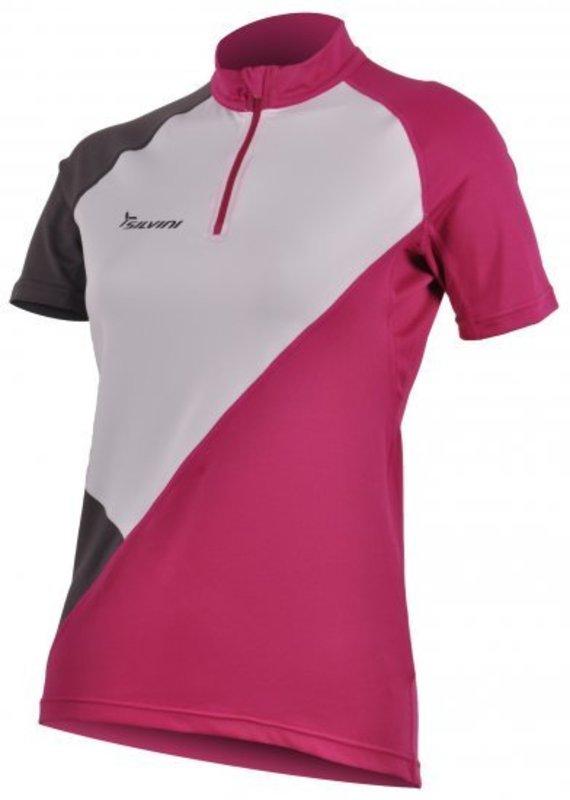 Dámsky cyklistický dres Silvini Tirino WD382 white-purple