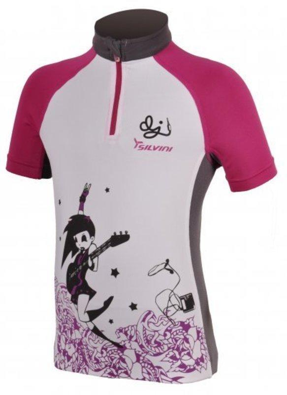 Detský cyklistický dres Silvini Cavone CD394 white-purple