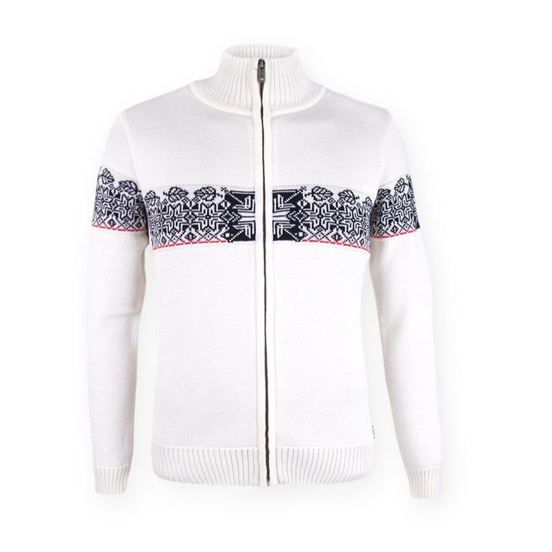 Dámsky sveter Kama 5083 100 biely
