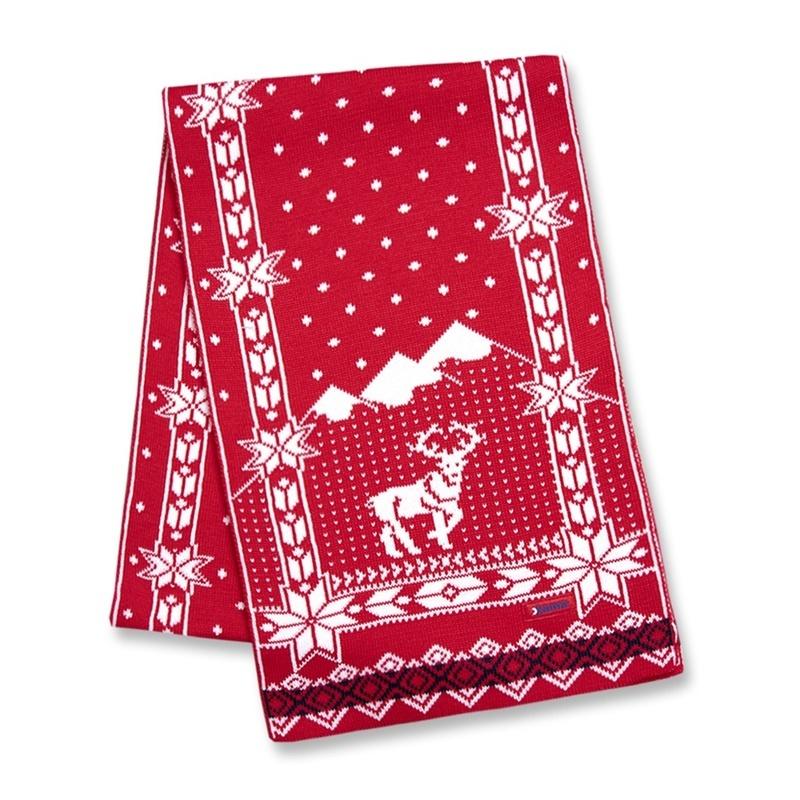 Pletená šál Kama S14 104 červená