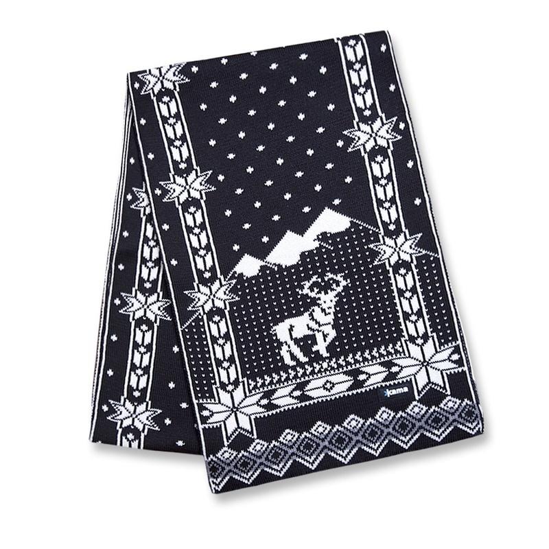 Pletená šál Kama S14 110 čierna