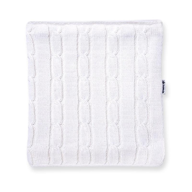 Pletený nákrčník Kama S15 100 biela