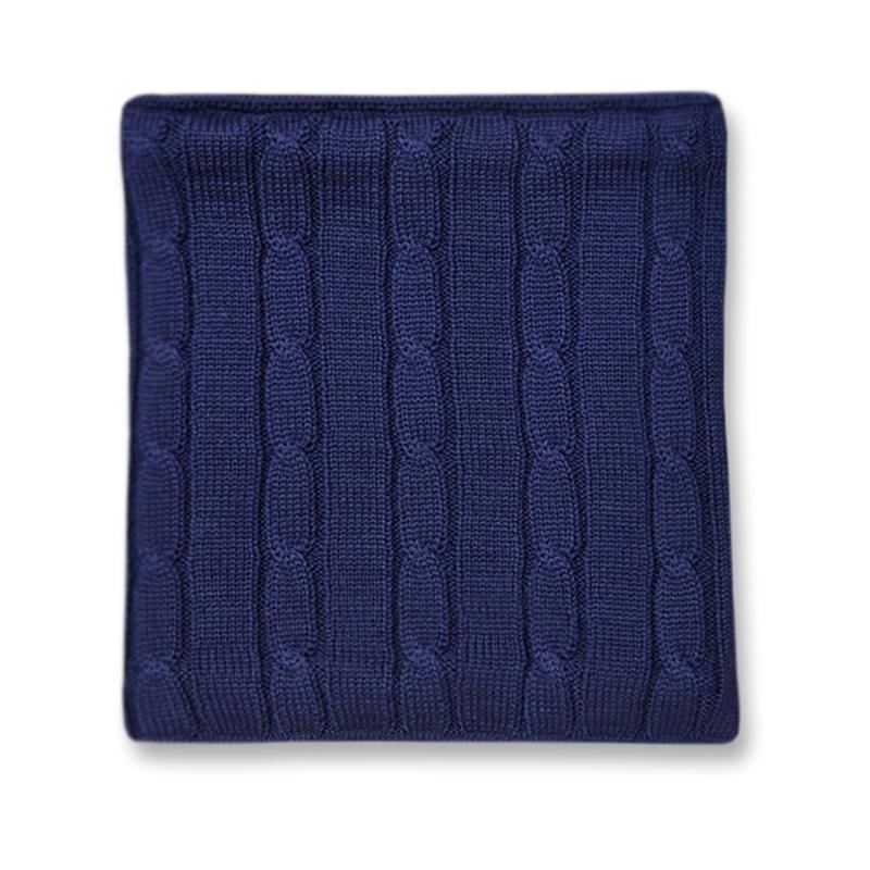 Pletený nákrčník Kama S15 108 tmavo modrá