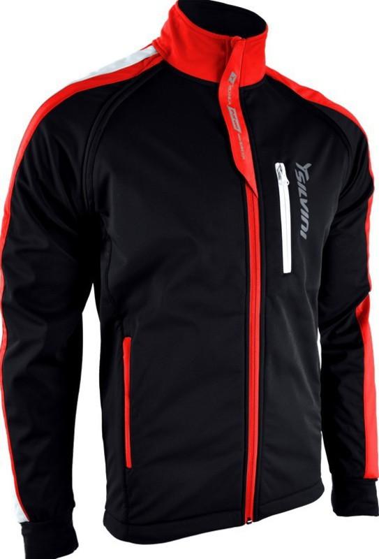 Pánska softshellová bunda Silvini Mutta MJ426 black-red L