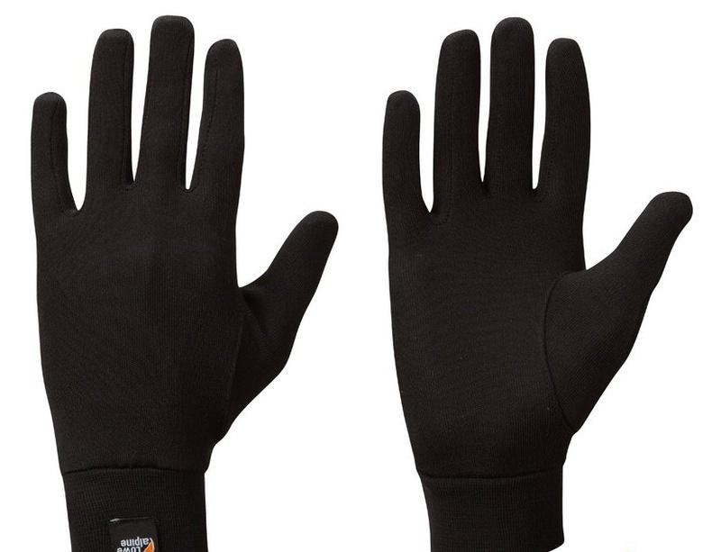 Rukavice Lowe Alpine Silkwarm Glove čierne