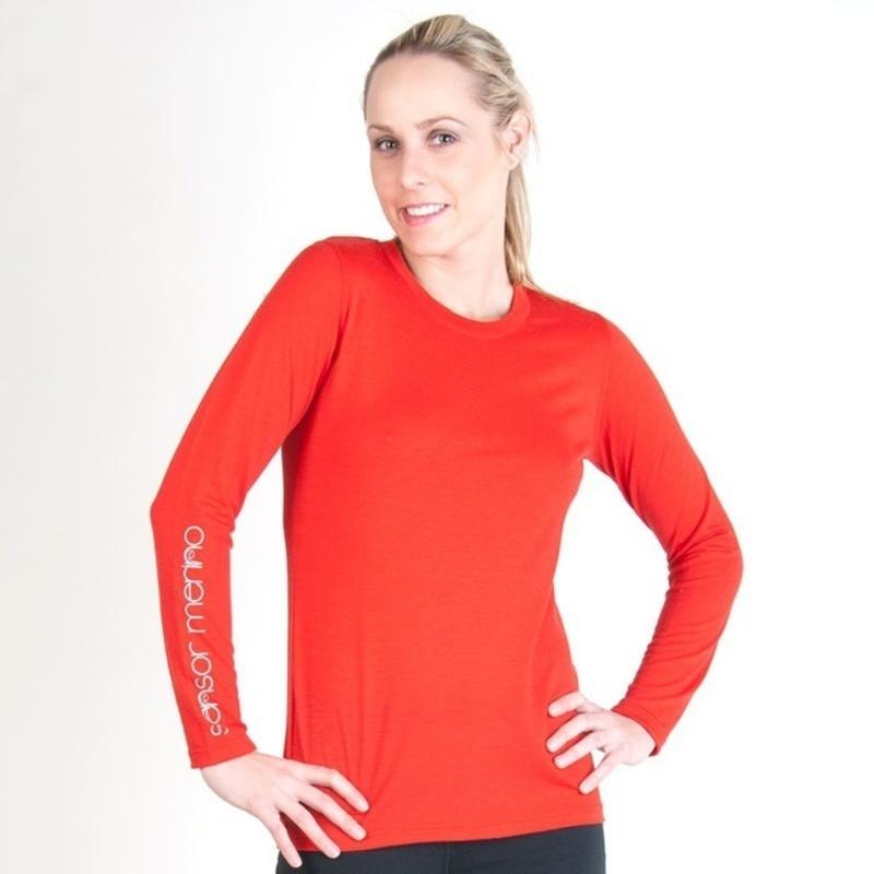Dámske triko Sensor Merino Wool PT Logo červené 12110039