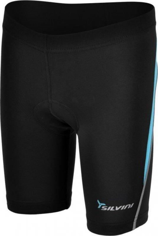 Detské cyklistické nohavice Silvini Basento CP486 black-blue