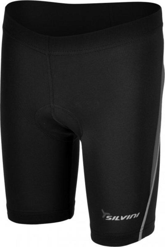 Detské cyklistické nohavice Silvini Basento CP486 black-grey