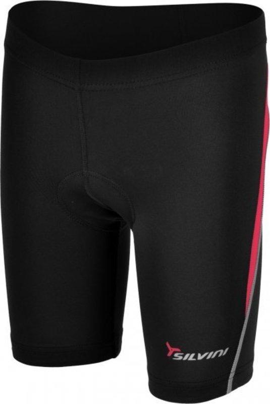 Detské cyklistické nohavice Silvini Basento CP486 black-rose