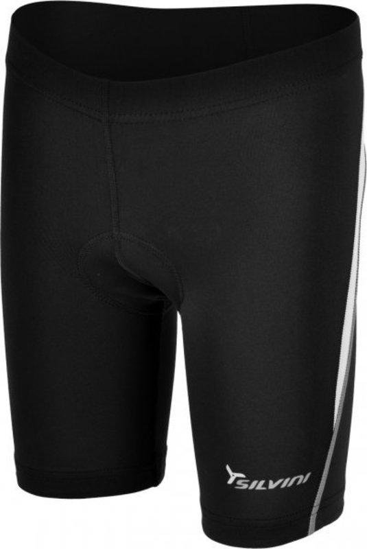 Detské cyklistické nohavice Silvini Basento CP486 black-white