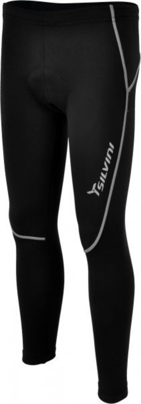Detské dlhé cyklistické nohavice Silvini Basento CP488 black