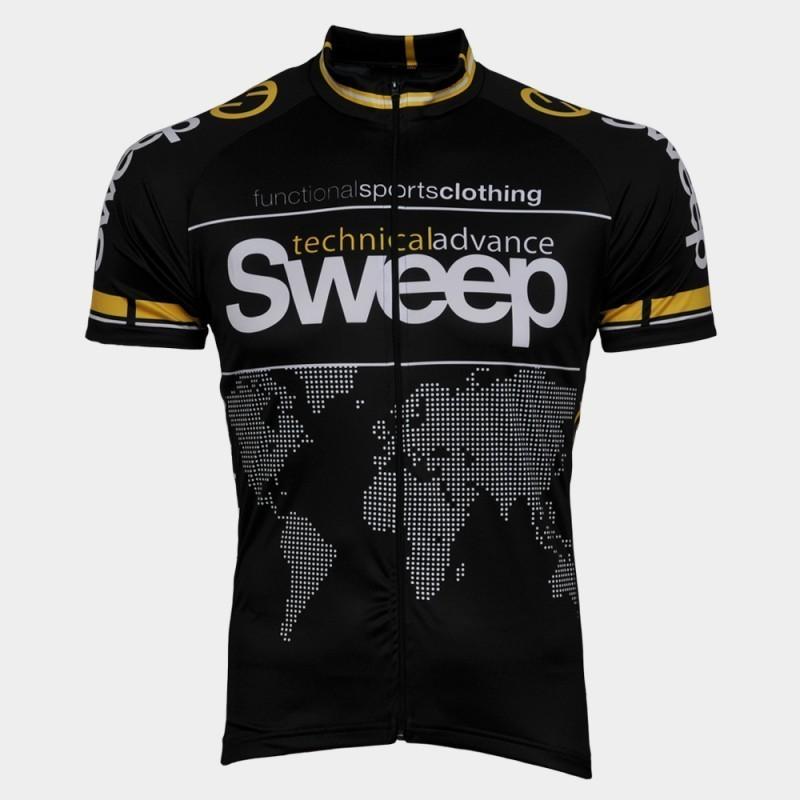 Cyklistický dres Sweep Classic D002 - čierna