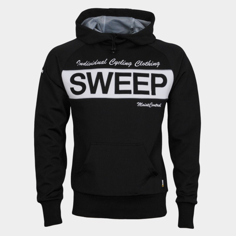Pánska mikina s kapucňou Sweep SMJ026 black