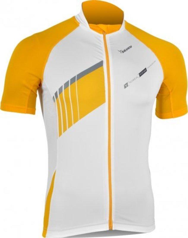 Pánsky cyklistický dres Silvini Pescara MD346 white-yellow