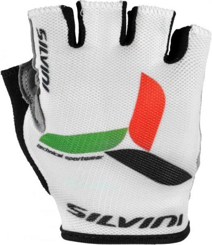 Detské cyklistické rukavice Silvini Team UA405 white