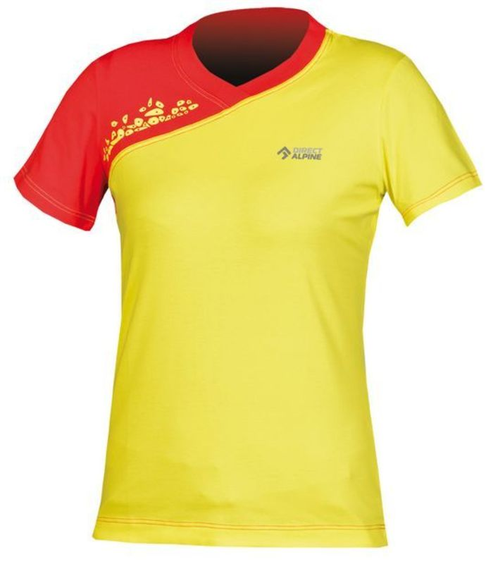 Tričko Direct Alpine Lotus Lady 1.0 yellow / red
