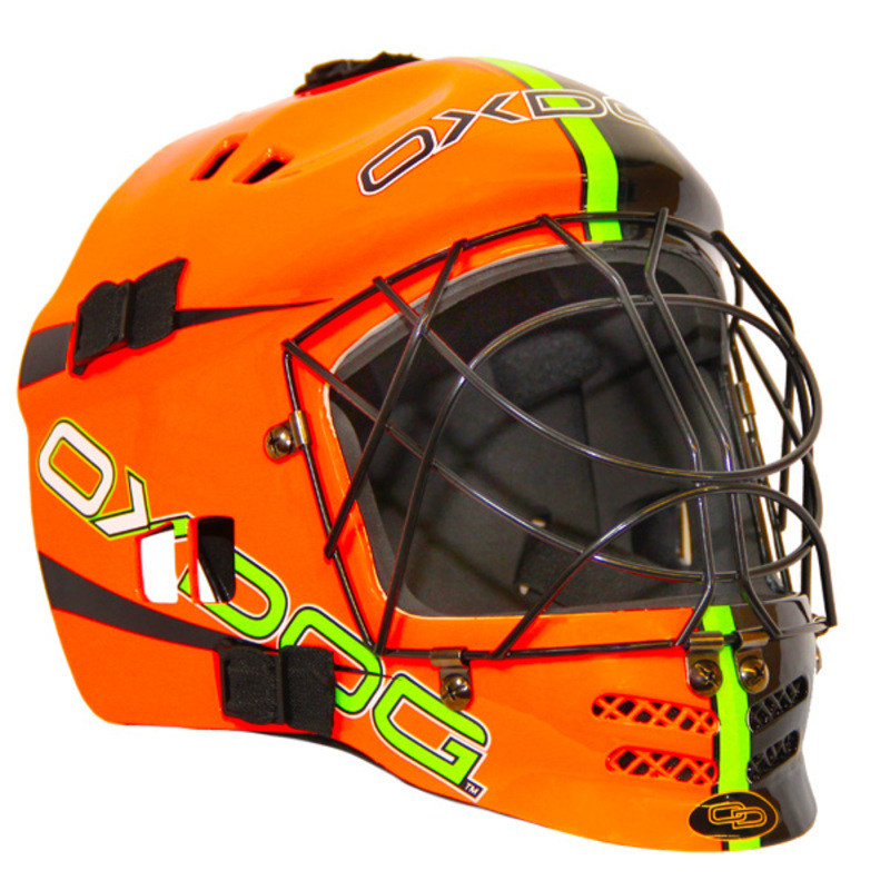 Helma Oxdog VAPOR GOALIE HELMET junior orange / black
