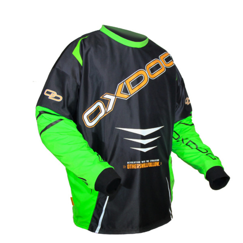 Brankársky dres Oxdog GATE GOALIE SHIRT black / green