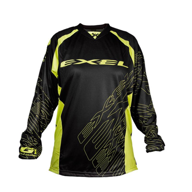 Brankársky dres EXEL G1 GOALIE JERSEY #1 black / yellow