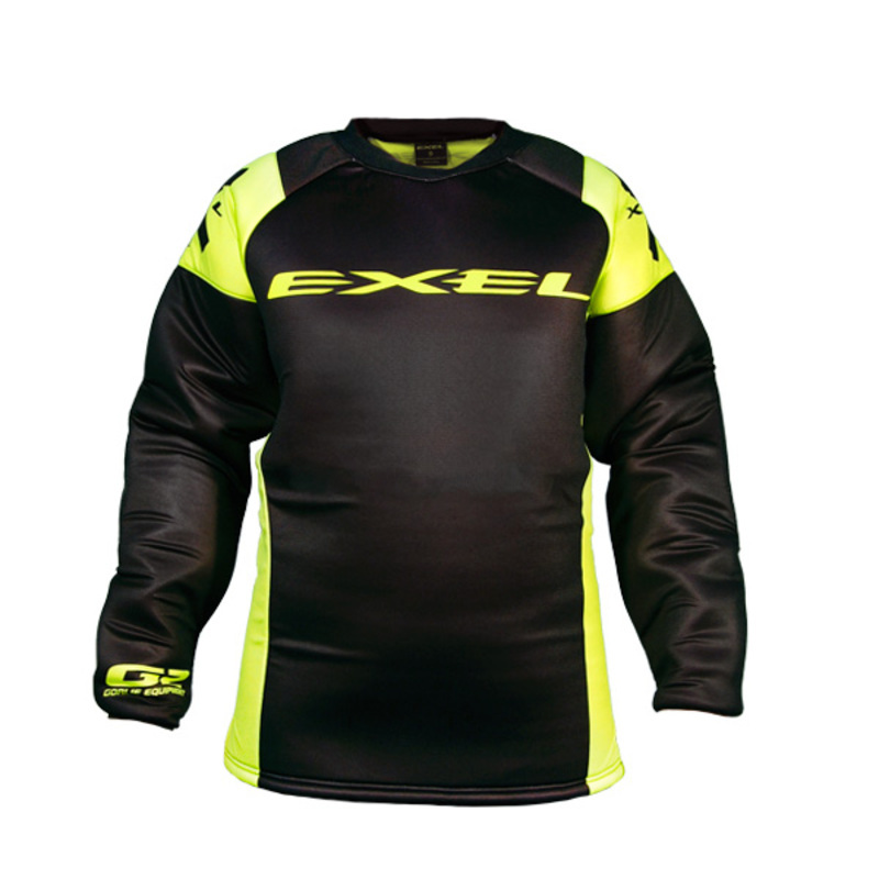 96d3f08e6ae63 Brankársky dres EXEL G2 GOALIE PROTECTION JERSEY black / yellow ...