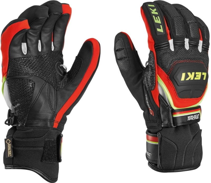 Rukavice LEKI Worldcup Race Coach Flex S GTX black-red-white-yellow 634-80123