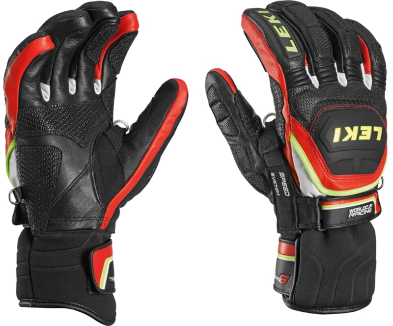 Rukavice LEKI Worldcup Race Flex S Speed System black-red-white-yellow 634-80143
