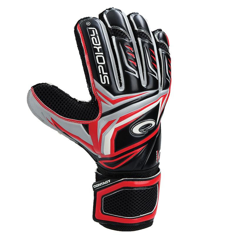 Brankárske rukavice Spokey CONTACT II červené