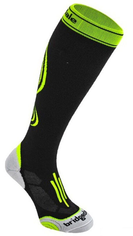 Ponožky Bridgedale Compression Active 008 black / fluro