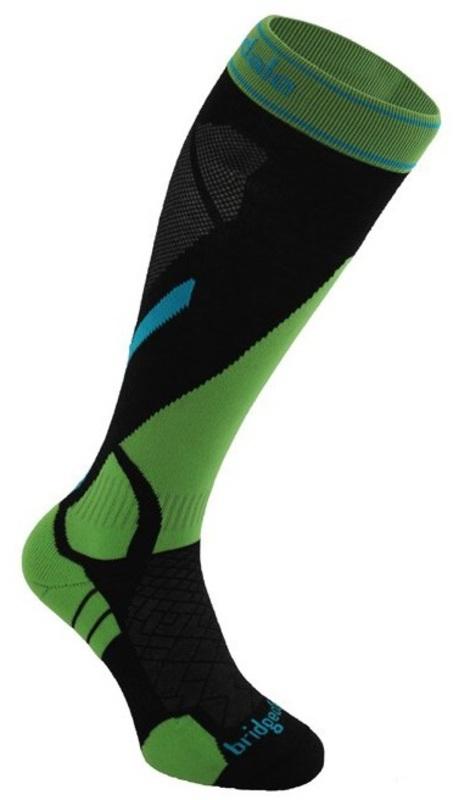 Ponožky Bridgedale Vertige Light 843 black / green